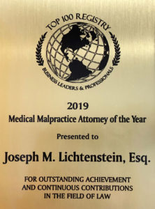 2019 medical malpractice attorney of the year